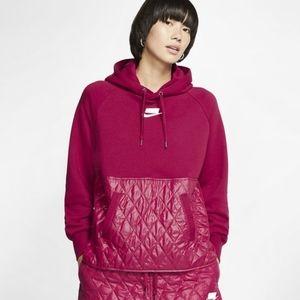 Nike Sportswear Quilted Fleece Pullover  Hoodie